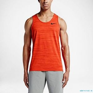 Nike Dri-Fit Tank Electro Red Orange Work Out